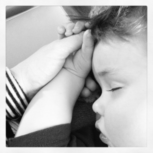 Lucky he's such a beautiful sleeper